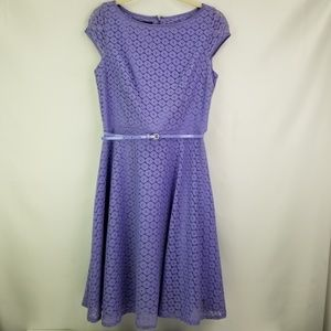 Evan Picone Purple Lace with belt size small